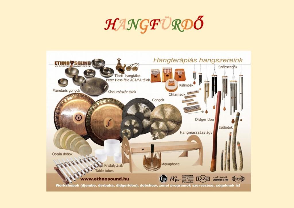 hangfürdő hangszerek
